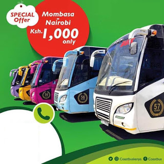 Photo of Get To Nairobi Town At A Discounted Travel Rate Of Ksh.1000 With Coast Bus