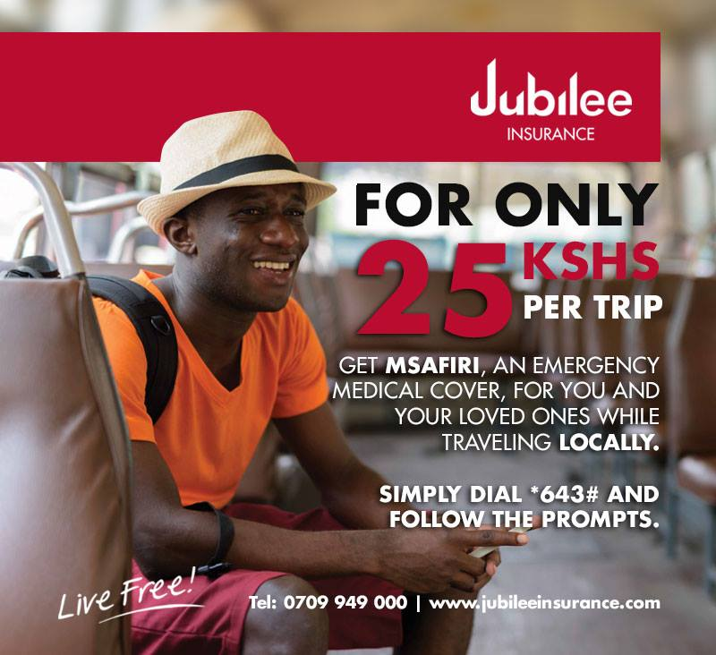 Photo of Get a Medical Travel Insurance Cover For As Low As 25/= With Jubilee Msafiri