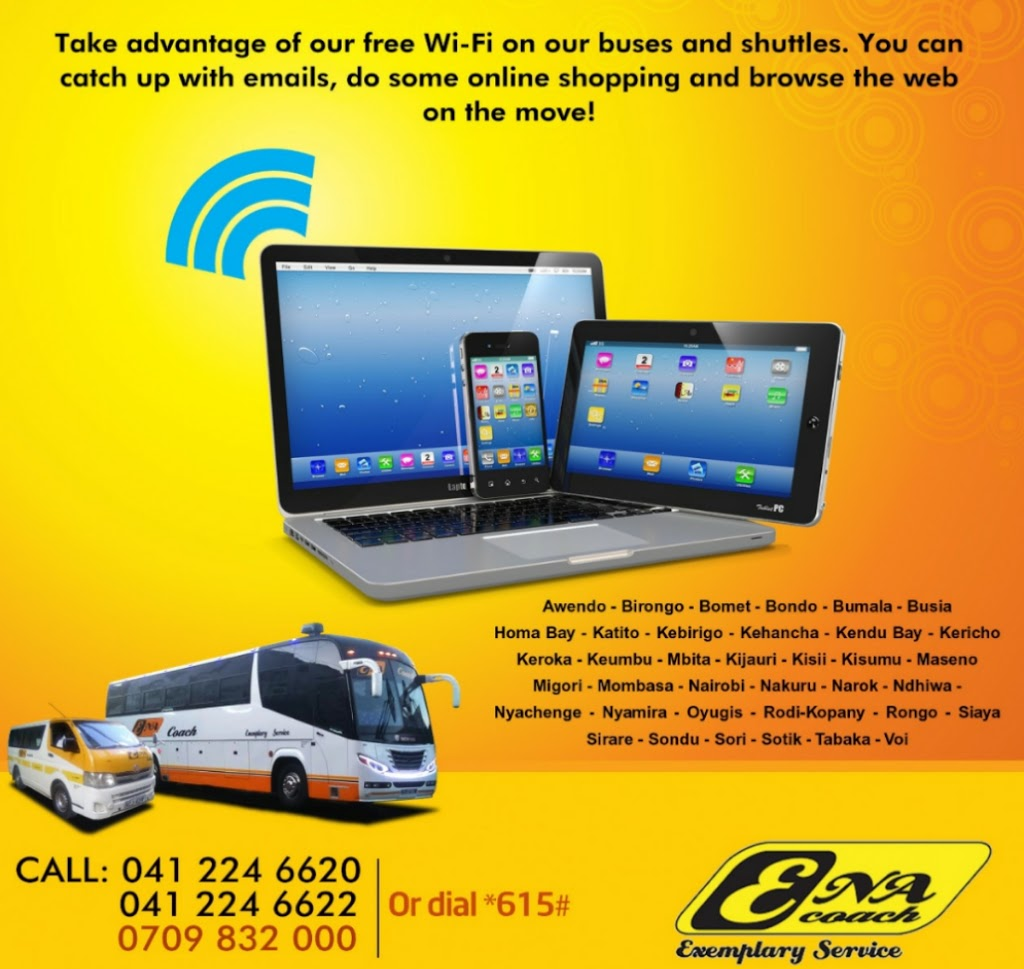 Photo of ENA Coach Introduces Free Wi-Fi To Its Fleet Of Buses & Shuttles