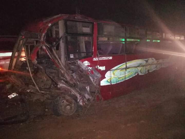 Photo of One Feared Dead As Bus Involves In A Collision With Lorry