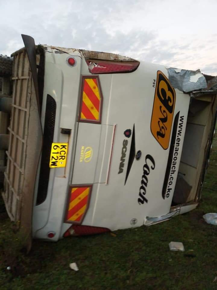 Photo of Several Injured As Bus Belonging To Ena Coach Involves In An Accident