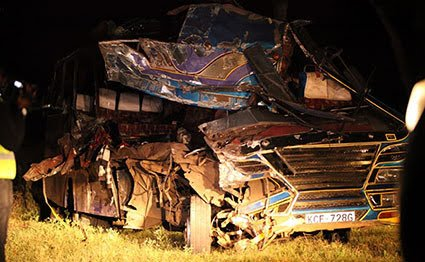 Photo of 13 People Killed After Bus Involves On A Head On With Lorry