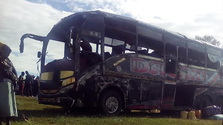 Photo of Dreamline Bus Involved In An Accident Leaving One Dead and Several Others Injured